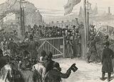Opening of Kew Bridge free of toll