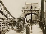 Traffic passing over Tower Bridge