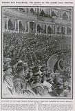 Women and war work: the Queen at the Albert Hall meeting