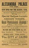 Advertisement for the 1898 season at Alexandra Palace