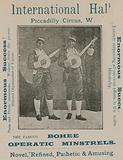 Advertisement for the famous Bohee Operatic Minstrels