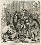 Reception of a debtor in the Fleet Prison