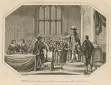 King Charles I demanding the persons of the five members whom he had accused of treason