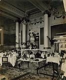 Cecil Hotel, London, dining room; photograph
