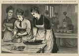 National Training School of Cookery at South Kensington: Morning in the scullery