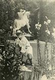 GF Watts in the garden of Little Holland House, Melbury Road, Kensington; photograph