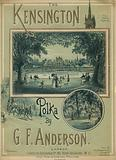 Musical score for The Kensington Polka by GF Anderson