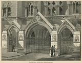 The Royal Courts of Justice: Strand front entrances to the quadrangle