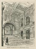 The Imperial Institute: Grand staircase to reception hall