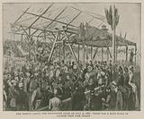 The Imperial Institute: Her Majesty laying the foundation stone on 4 July 1887, which was a huge block of granite from …