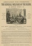 Advertisement for the Association for Promoting the General Welfare of the Blind