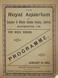 Programme for The Royal Aquarium