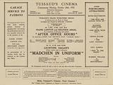 Leaflet for Madame Tussaud's Cinema, London