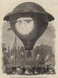 Ascent of M Godard's Montgolfier baloon from Cremorne Gardens