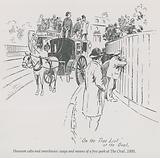 Hansom cabs and omnibuses - ways and means of a free peek at The Oval, 1895
