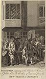 Prisoners stopping at the Baptist's Head in St John's Lane