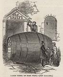 Large tonel of port wine