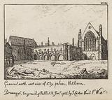 General noth east view of Ely Palace, Holborn