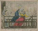 A woman is ejected from the pews of the Foundling Hospital Chapel