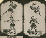 John Lee and Stephen Lee, circus acrobats and musicians