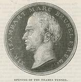Coin issued at the time of the opening of the Thames Tunnel