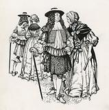 Mr and Mrs Pepys in Gray's Inn Gardens, London