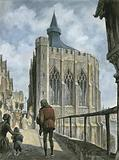 Reconstruction of the Chapel of St Thomas on old London Bridge
