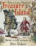 Cover artwork for Treasure Island, by Robert Louis Stevenson