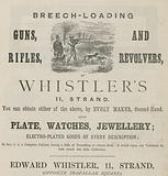 Advert for Edward Whistler, 11 Strand, London