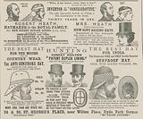 Advert for Robert Heath, hatmaker to the Royal Family