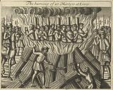 The burning of ten martyrs at Lewes