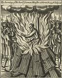 The burning of Richard Yeoman, Minister at Norwich, 10 July 1558