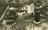 Bomb-damaged area of London