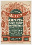 Advertisement for Astley's Amphitheatre, opening for the Summer Season, 8 April 1833