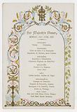 Menu for Queen Victoria's dinner on Monday 21 June 1897, the day before her Diamond Jubilee