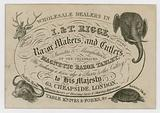 I & T Rigge, Razor Makers and Cutlers, trade card