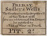 Ticket for Friday Sadlers Wells