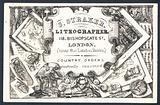 S Straker, lithographer, trade card