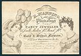 R Manning, Plumassier and fancy jeweller, trade card