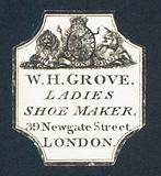 W H Grove, Ladies Shoe Maker, trade card
