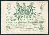 Bryant's, East India Repository and foreign china warehouse, trade card