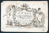 JR Wilkins, linen draper, trade card