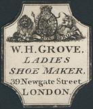 Trade card, W H Grove