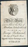 Book plate, this book is to be sold at the shop of Abraham Vandenhoeck and George Richmond