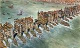 Old London Bridge, c 1600