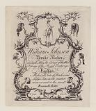 Peruke maker, William Johnson, trade card