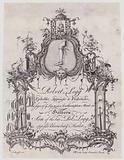 Upholsterer, Robert Legg, trade card