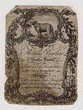 Woolen drapers, Thomas Barton, trade card