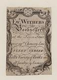 Booksellers, Edward Withers, trade card