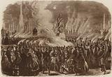 Mendelssohn Festival, the Torchlight Procession, 1860